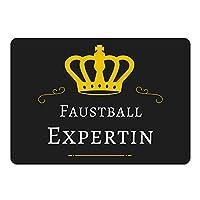 Mousepad Faustball Expertin schwarz