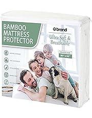 Ultra Soft Bamboo Mattress Protector, Extra Long Skirt, Waterproof Bed Sheet, Hypoallergenic, Mattress Cover