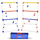 GoSports LT-01  Premium Ladder Toss Outdoor Game Set with 6 Bolo Balls, Travel Carrying Case and Score Trackers, Full Size, Multi