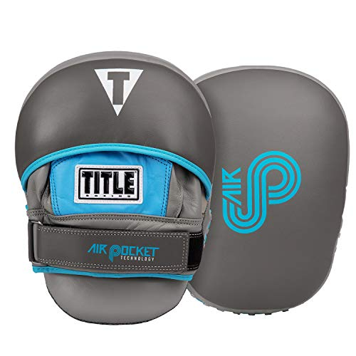 Title Boxing Air Pocket Punch Mitts, Grey/Light Blue