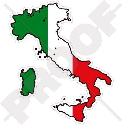 ITALY Italian Map-Flag ITALIA 4.1