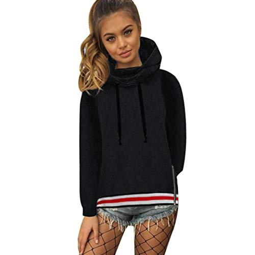 Price comparison product image Sweater,Toimoth Women Long Sleeve Hoodies Jumper Hooded Pullover Sweatshirt Tops (Black,S)
