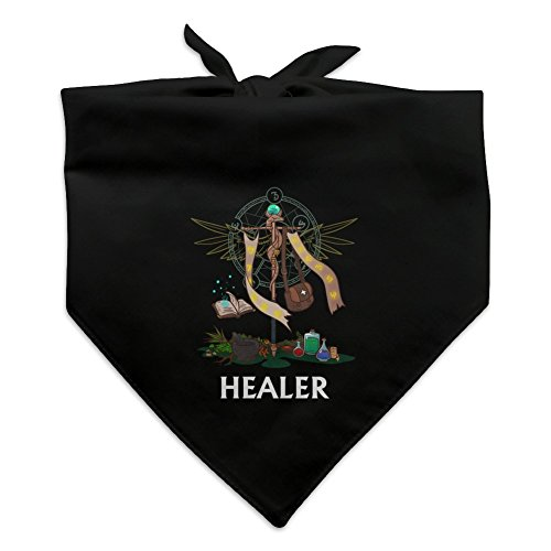 GRAPHICS & MORE Healer Cleric RPG MMORPG Class Role Playing Game Dog Pet Bandana - Black