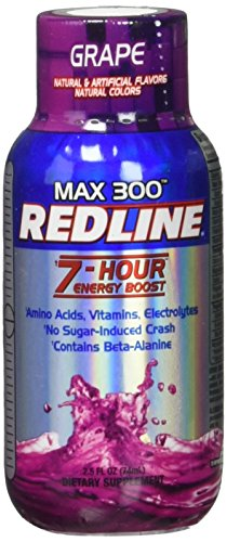 VPX Redline Power Rush 7-Hour Energy Max 300 Shot Supplement, Grape, 2.5 Ounce (Pack of 12) For Sale