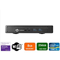 HP 600 G1 Micro Computer Mini Tower PC (Intel Quad Core i3-4160T, 8GB DDR3 Ram, 256GB Solid State SSD, WIFI, VGA, USB 3.0) Win 10 Pro (Certified Refurbished)