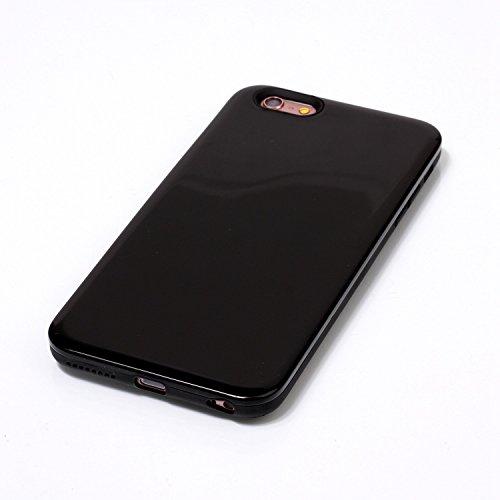 JIALUN-carcasa de telefono Cubierta de la caja del iPhone 6s Plus, cubierta protectora trasera dura plástica del color sólido para Apple IPhone 6s más ( Color : Gold , Size : IPhone 6s Plus ) Black