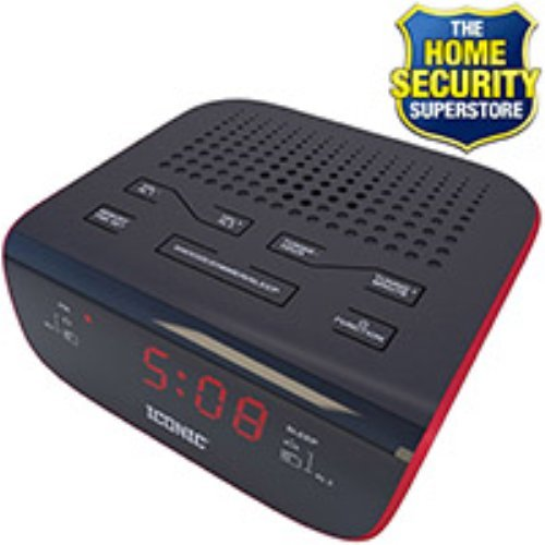iconic digital alarm clock radio hidden wifi spy camera. Black Bedroom Furniture Sets. Home Design Ideas