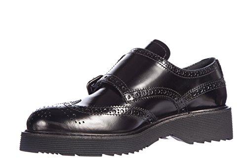 75e6b860ca2 chic Prada women s classic leather formal shoes spazzolato fume monkstrap  buckles bro