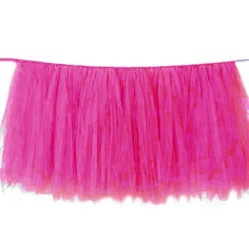 FidgetGear Tulle Tutu Table Skirt Tableware Wedding Party Xmas Baby Shower Decor Gift Fuchsia from FidgetGear