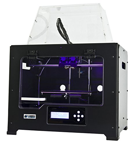 FlashForge 3d Printer Creator Pro, Metal Frame Structure, Acrylic Covers, Optimized Build Platform, Dual Extruder W/2 Spools, Works with ABS and PLA, Best Gadgets