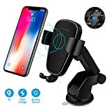 Wireless Car Charger Mount, DORISO Auto-Clamping 10W Qi Fast Charging Car Phone Holder for Windshield Dashboard Air Vent, Compatible with iPhone Samsung Nexus Moto HTC and All Qi-Enabled Device