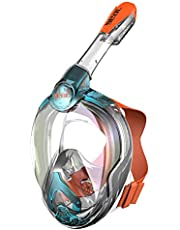 Seac Magica, snorkelmask helansiktsmask anti-imskydd system med en mjuk maskkropp, torr topp snorkel med utloppsventil