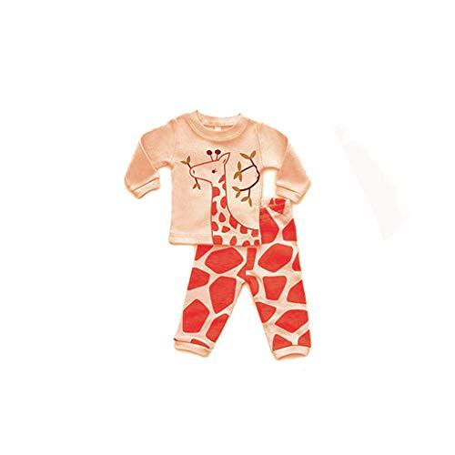 Sayolala Boys Down Jacket Doll & Girls Pajamas Baby Cartoon Tops Pants Family Sleepwear White Shirt for Girls ()