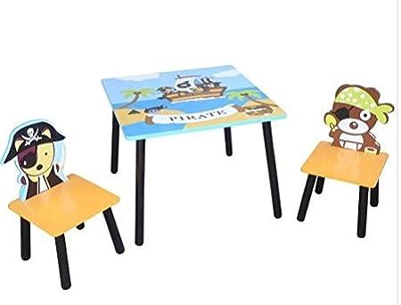 Childrens lápiz mesa y taburete silla Kids Dormitorio escritorio ...
