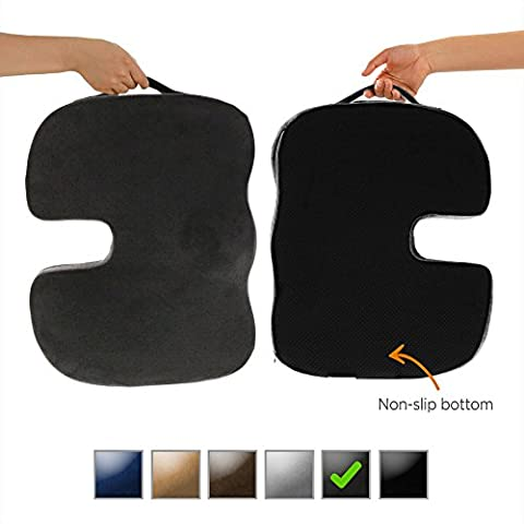 Dr. Ergo | Chiropractor Grade | Firm Orthopedic Memory Foam Seat Cushion | Coccyx, Tailbone and Sciatica Pain Relief | Non Slip Back Support Pillow for Office Chair, Car Seat and Wheelchair - (Whatever You Do Be A Good One)