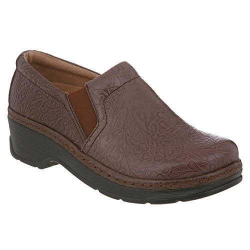 Klogs USA Women's NAPLES Clog,Coffee Tooled,6 M US