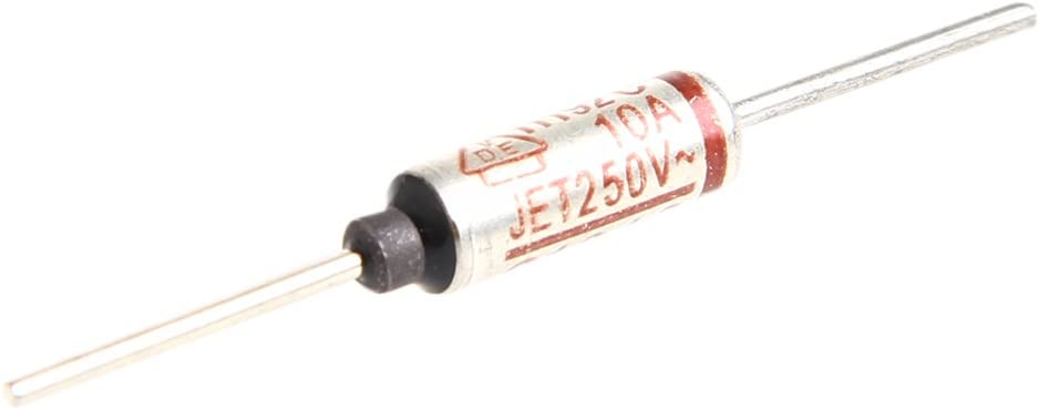 Argent JOYKK 5Pi/èce Temp/érature Mini Fusible 250 V10A Coquille M/étallique Thermique 192 Degr/és Temp/érature Micro Cut