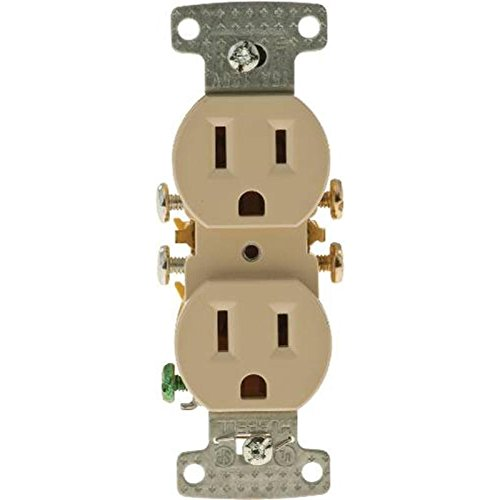 HUBBELL WIRING GIDDS-606184 RR15SI Receptacle Duplex 15A Self Grounding Ivory-606184, Ivory