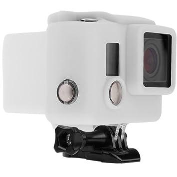 Revo - Carcasa de Silicona para GoPro Hero 3+/HERO4 (Blanca ...