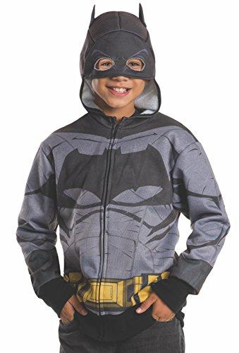 Batman Hoodie Mask (Rubie's Costume Batman v Superman: Dawn of Justice Batman Child Hoodie,)