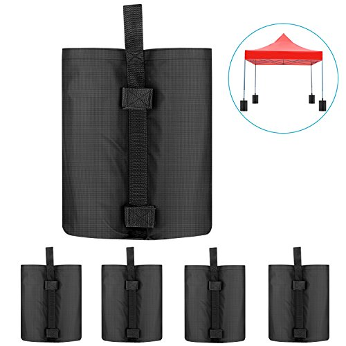 Neewer 4-Pack Weight Bags Leg Sandbags Weighted Base for Anchoring Canopy Tent Sunshade Outdoor Shelter Marquees Market Stalls, 20.4 x 14.9 x 13.3 inches Black, Empty Bag