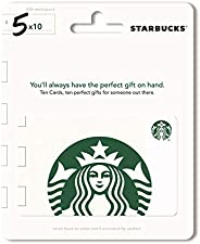 Starbucks Gift Cards, Multipack of 10