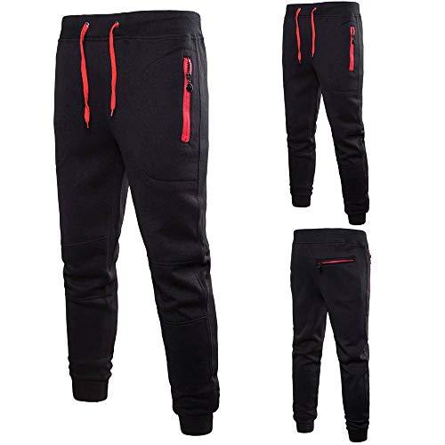 Gift Ideas!!! Teresamoon Men Pure Color Pocket Overalls Casual Pocket Sport Work Casual Trouser Pants