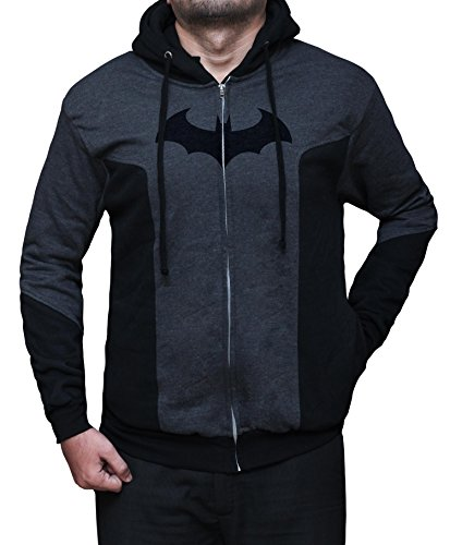 Batman Products : Miracle(Tm) Batman Arkham Hoody - Mens 100% Cotton Zip up Hoodie