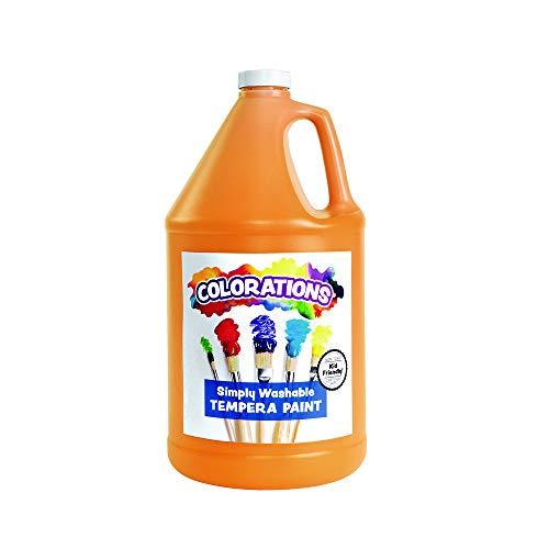 Colorations Washable Tempera Paint, Gallon, Orange, Non Toxic, Vibrant, Bold, Kids Paint, Craft, Hobby, Fun, Art Supplies