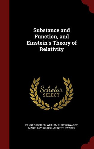 Substance and Function, and Einstein's Theory of Relativity ebook