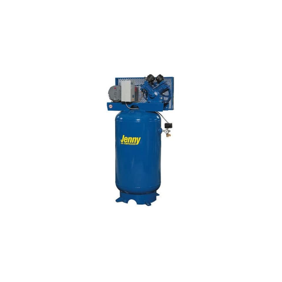 Jenny Compressors GT2B 60V 230/3 2 HP 60 Gallon Tank 3 Phase 230 Volt, Vertical Electric Two Stage Stationary Compressor