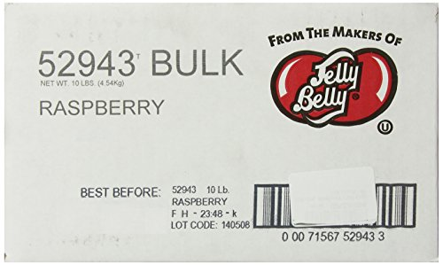 Jelly Belly Raspberry Jelly Beans, 10-Pound Box ()