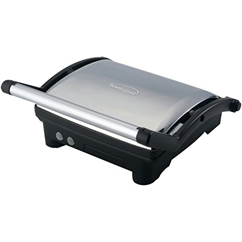 Brentwood Stainless Steel Contact Grill  - Brushed Stainless
