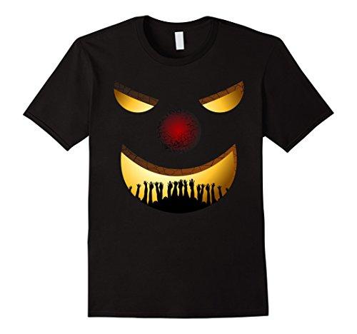 Creepy Clown Costumes Ideas (Mens Creepy Clown Halloween TShirt Horror Funny Costume Gift Idea 2XL Black)