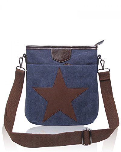 Handbags Satchel BLUE Canvas POCKETS LeahWard Messenger 2039 OXFORD Men's 160434 DOUBLE School Women's Ladies Bags SgxIq