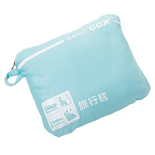 Cozy-Soft Travel Blanket Compact Lightweight Portable with Bag (Sky Blue) (Blanket Airplane)