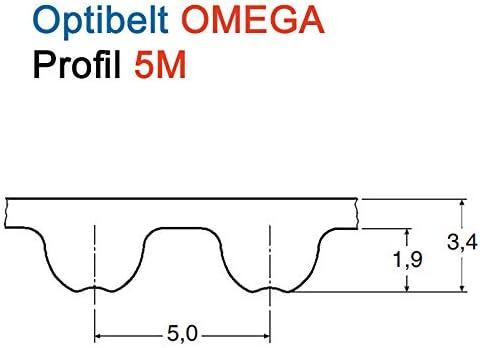 Optibelt Cinghia di distribuzione 450 5 m 15