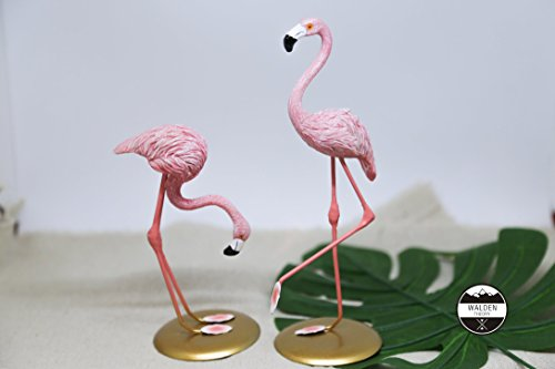 (Walden Theory Flamingo Sculpture Set| Home Decor | Status | Art Animal Figure Lodge Decor | Gift for Flamingo Lover | Flamingo Collection | Wedding Gift for couples (Set of 2))