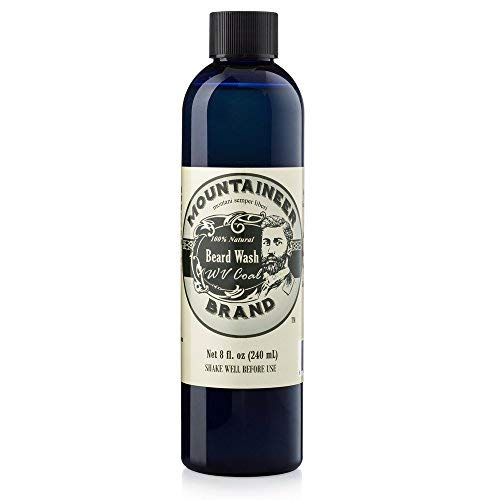 Beard Wash by Mountaineer Brand (8oz) | WV Coal Scent (Peppermint & Patchouli) | Premium 100% Natural Beard Shampoo