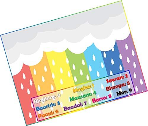 PartyStuff Rainy Season Theme Tambola Housie Tickets - Combo Kukuba 1 (16 Cards)