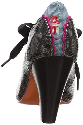 Gris Fermé Bout Poetic Backlash Grey Escarpins Licence Irregular Choice Noir Bg Femme by nwqfCvF