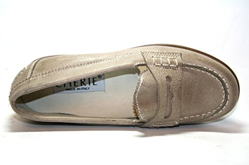 Cherie enfants filles chaussures mocassins 7833 taupe (sans boîte eU 31)