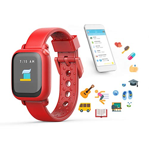 Octopus Watch v1 by Joy Kids Smartwatch Teaches Good Habits and time (Watch, Red)