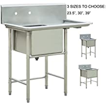 """Bonnlo Commercial Stainless Steel Commercial Kitchen Prep & Utility Sink (39"""" L x 24"""" W x 43 3/4"""" H)"""