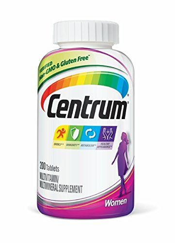 Centrum Women (200 Count) Multivitamin / Multimineral Supplement Tablet, Vitamin -