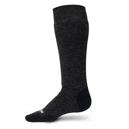- Minus33 Merino Wool Ski and Snowboard Sock Charcoal USA Made Large