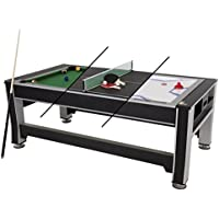 Triumph 3-In-1 Rotating Swivel Multigame Air Hockey, Billiards Pool and Table Tennis Table