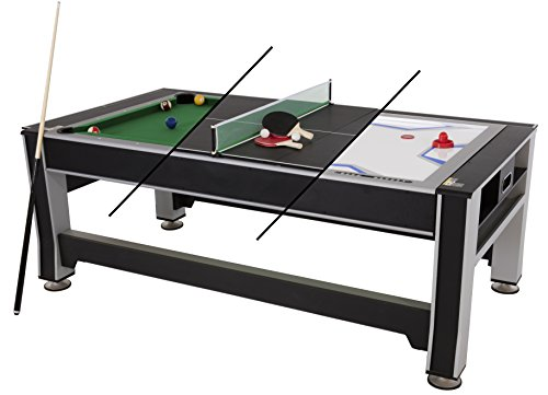 84 Inch Air Hockey Table - Triumph 3-in-1 Swivel Multigame Table