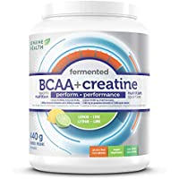 Genuine Health Fermented BCAA + Creatine, Vegan, Gluten Free, Soy Free, Non GMO, Lemon Lime, 440g