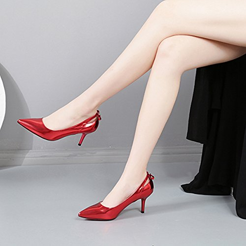 Elemento Alti Spillo Tacchi Rosse Pompe Primavera Hoxekle A Moda Sexy Donne Gioielli Scarpe Nuovi Disegno pqZqYwIx7